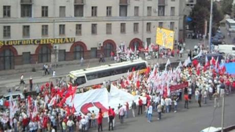 Che Guevara prin centrul Chişinăului
