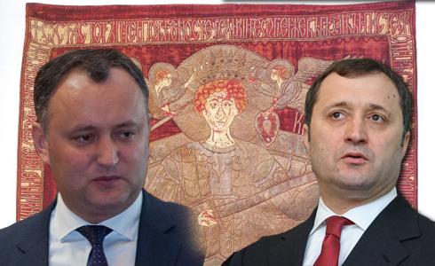 Moldoveniştii aşteaptă steagul lui Ştefan cel Mare la Chişinău