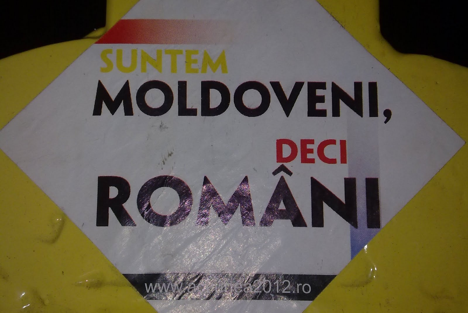 """SUNTEM MOLDOVENI, DECI ROMÂNI"""