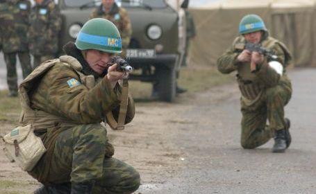 Protestează împotriva ocupaţiei ruseşti