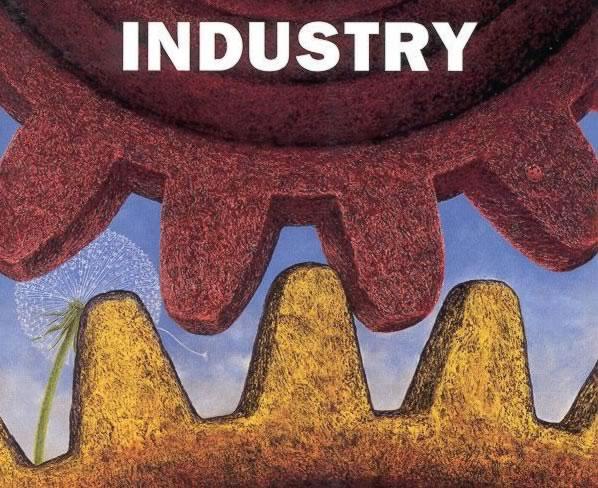 Indicele producției industriale în scădere