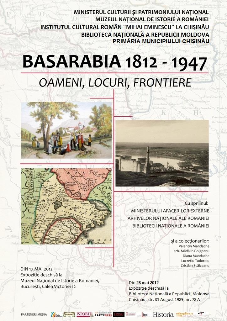 "Invitație la expoziție: ""Basarabia 1812-1947. Oameni, locuri, frontiere"""