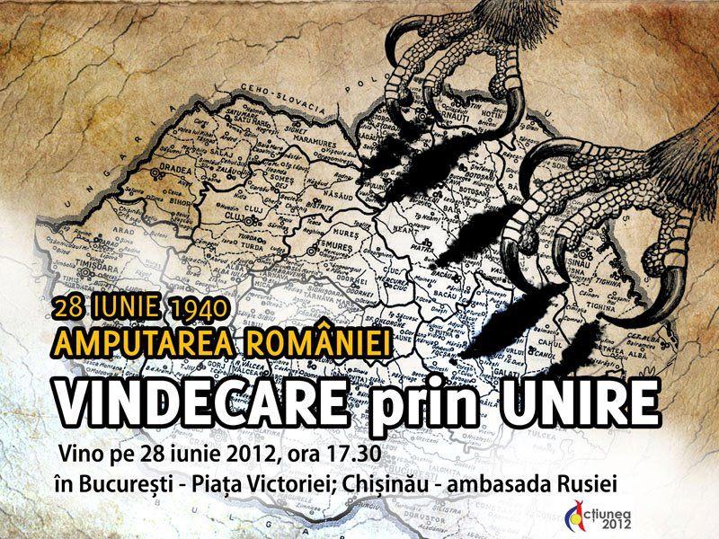 Ziua de 28 iunie 1940 va fi marcată la Bucureşti şi la Chişinău
