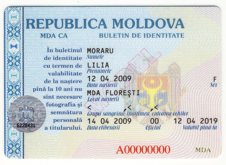 Datele din buletinul de identitate vor fi introduse doar în limba de stat