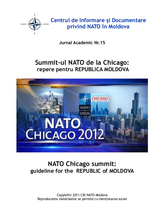 Summit-ul NATO de la Chicago: repere pentru REPUBLICA MOLDOVA