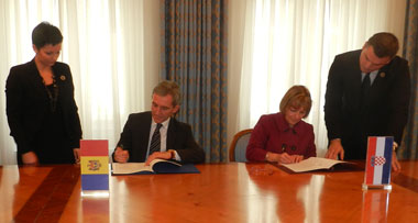R. Moldova şi Republica Croaţia au semnat un acord privind Parteneriatul European