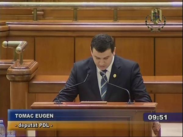 Tomac în Parlamentul României: Corectăm o nedreptate istorică