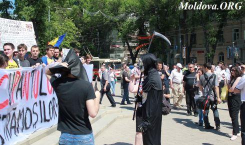 Chișinău: protest al unioniștilor de Ziua Victoriei