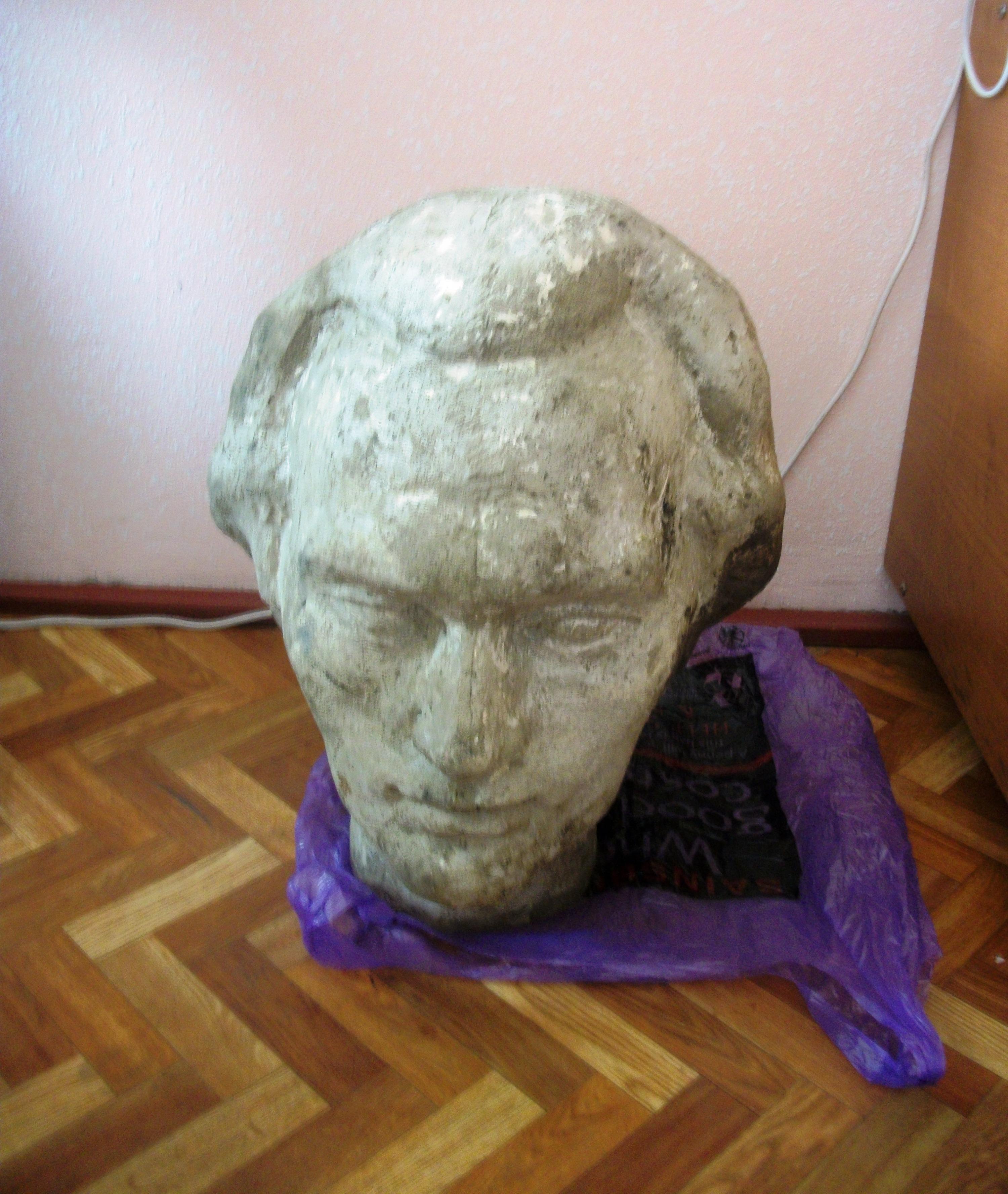 TOCpress: Capul bustului lui Eminescu a fost găsit într-un lac