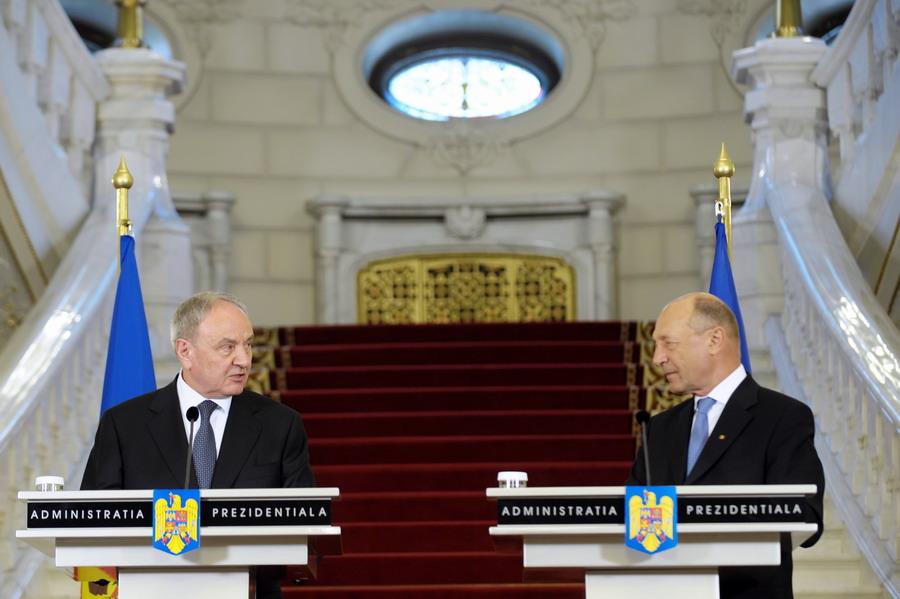 Traian Băsescu în vizită la Chișinău