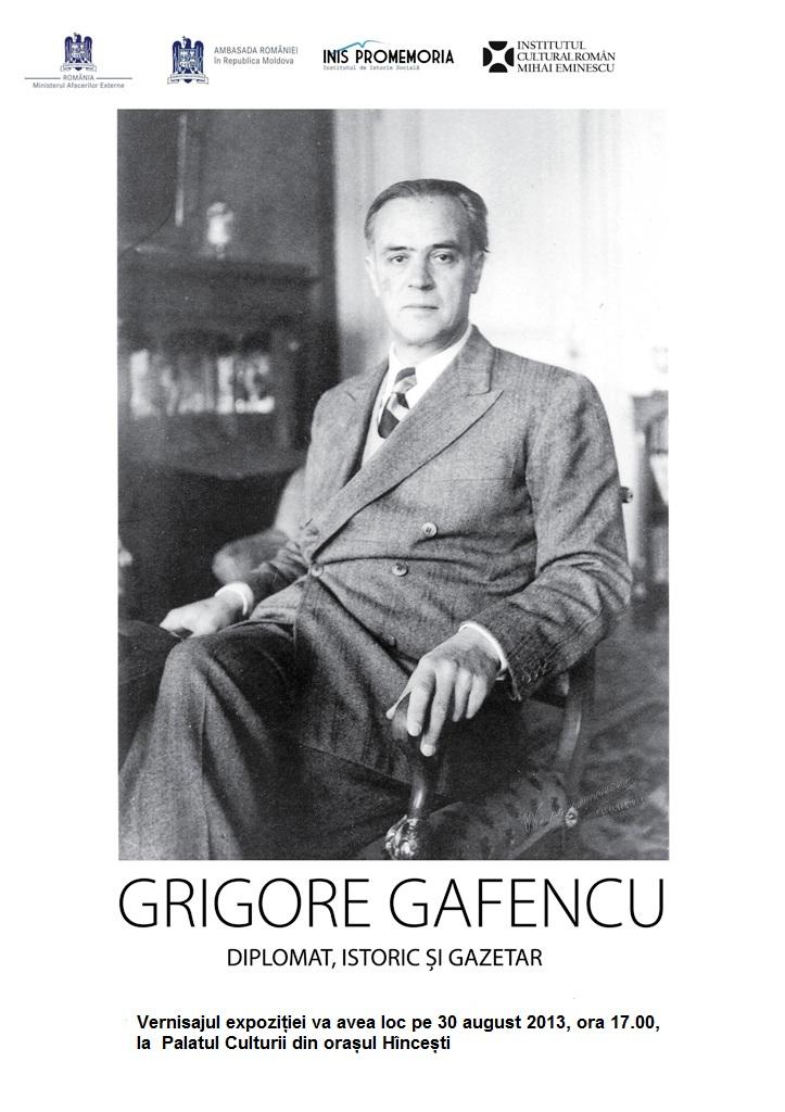 """Expoziția """"Grigore Gafencu- diplomat, istoric și gazetar"""" în orașul Hîncești"""