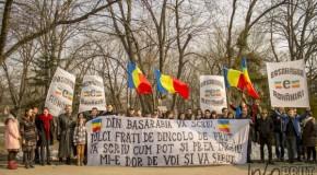 FOTO Acțiunea 2012 îl omagiază pe Grigore Vieru