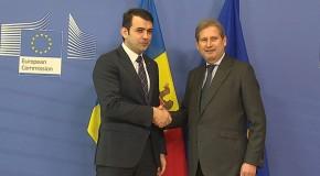 Gaburici s-a întâlnit cu Hahn, comisarul european pentru extindere