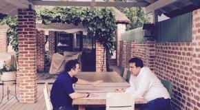 """""""Am discutat despre situația politică din Rep. Moldova"""". Întâlnirea surpriză dintre Filat şi """"Mickey"""" Saakaşvili"""