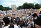 LIVE VIDEO. Marşul Centenar a ajuns în PMAN. Toată lumea cere Unirea!