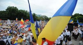 Marşul lui Ştefan cel Mare // Mii de tineri dintre participanţii la MAN au plecat pe jos spre Bucureşti pentru Unire