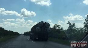 Sisteme de rachetă S-300, surprinse în drum spre frontiera Ucrainei cu Rep.Moldova