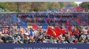 """Dezbatere FUMN la București – """"Republica Moldova: Ultima noapte de iluzii, întâia zi de realism"""""""