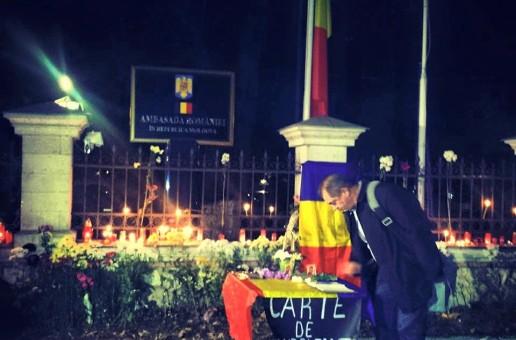 Carte de Condoleanţe în memoria Majestăţii Sale Defuncte Regele Mihai I al României, deschisă la Chișinău
