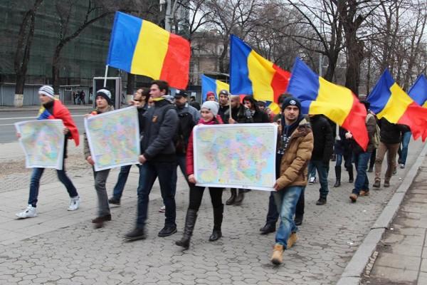 protest-fata-de-gestul-socialistilor-de-a-arde-harta-romaniei-mari