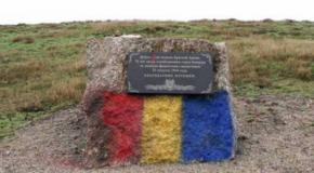 POZA ZILEI: Steagul României, pictat pe un monument sovietic din Tighina. Separatiştii de la Tiraspol tremură de furie