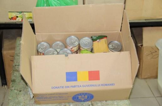 Sute de persoane din Cahul vor primi pachete alimentare din partea României