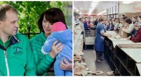 """Populaţia se uită la rafturile goale. Nina Ştanski scrie pe Facebook: """"Fericirea există"""""""