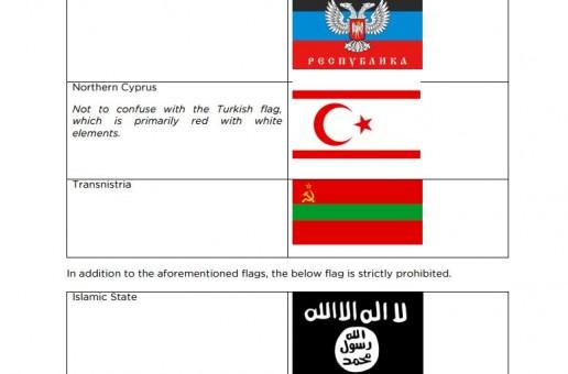 Steagul separatiştilor de la Tiraspol, pe lista neagră a Eurovision 2016