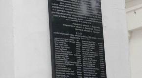 Placă comemorativă la Orhei, în memoria celor care au votat Unirea
