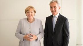 Iurie Leancă, în campanie electorală: Vizită la Berlin, întâlnire cu Angela Merkel
