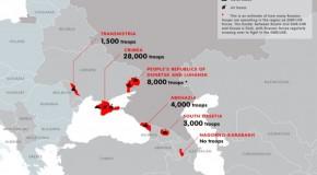 INFOGRAFIC / Câte trupe are Rusia în regiunea transnistreană. Harta unui europarlamentar polonez