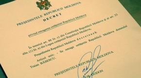 Decretul de retragere a cetăţeniei lui Traian Băsescu, contestat la Curtea Constituţională de către un deputat PLDM