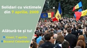 Flashmob dedicat comemorării evenimentelor din 7 aprilie 2009