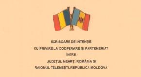 O nouă înfrăţire la orizont: raionul Teleneşti, din Rep. Moldova, şi judeţul Neamţ, din România
