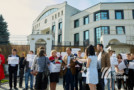 """Elevii și profesorii Liceului """"Ștefan cel Mare și Sfânt"""" din reg. transnistreană, protest în fața Ambasadei Rusiei de la Chișinău"""
