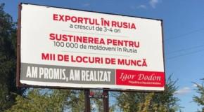 Minciuna (lui Dodon) are picioare scurte: Exporturile Rep. Moldova în Rusia au scăzut