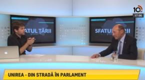 Traian Băsescu: În anul Centenarului, Parlamentul României nu va ezita să aibă un mesaj care să vizeze Reunirea