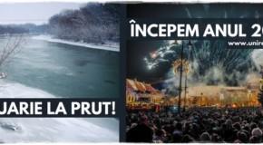 Revelion unionist: Români, petreceți Prutul!