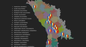 HARTA localităţilor din Rep. Moldova care au semnat până acum Declaraţia de Unire cu România