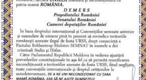 Un sat din Rep. Moldova, Declarație de Unire și demers către Președinția și Parlamentul României