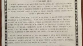 Declarație de Unire cu România, votată la Sinești, raionul Ungheni