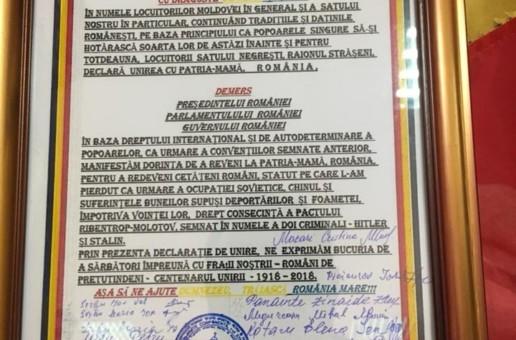 40 pentru Reîntregire! Care sunt cele două localități din Strășeni care au votat azi pentru Unirea cu România
