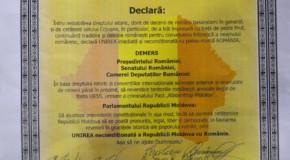 Cojușna din raionul Strășeni deschide o nouă serie de Declarații de Unire cu România