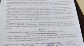 """Ungheni spune """"DA"""" Reîntregirii și cere Parlamentului de la Chișinău să adopte o declarație similară"""