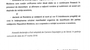 Alianța pentru Centenar: Parlamentul României a dat undă verde pentru Reunire