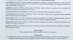 Inedit: Un birou de avocatură din Chișinău a votat Declarația de Unire cu România