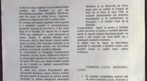 Declarație de Reunire, adoptată de Lugoj!