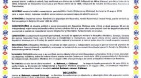 Bahmut a semnat Declarația de Unire cu România