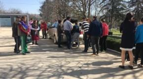 Familiile cu probleme materiale din localitatea de baștină a lui Dodon, ajutate de unioniști în a doua zi de Paște