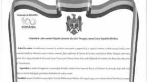 Satul Borogani cere Unirea cu România!